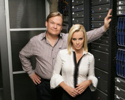 Andy Richter and Jenny McCarthy on Chuck