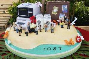 "Lost's 100th episode cake made by the people at ""Ace of Cakes"""
